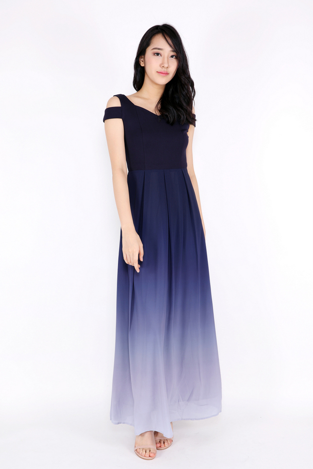 Olivia Ombre Maxi Dress (Blue/Light Blue)