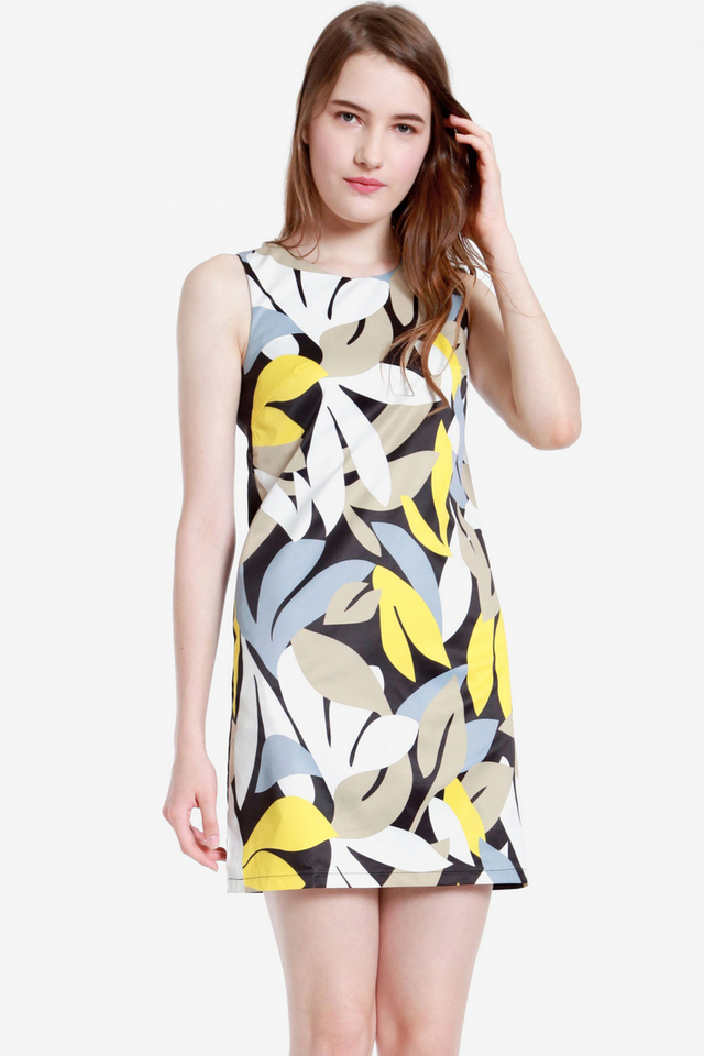 Emmons Floral Shift Dress (Yellow)