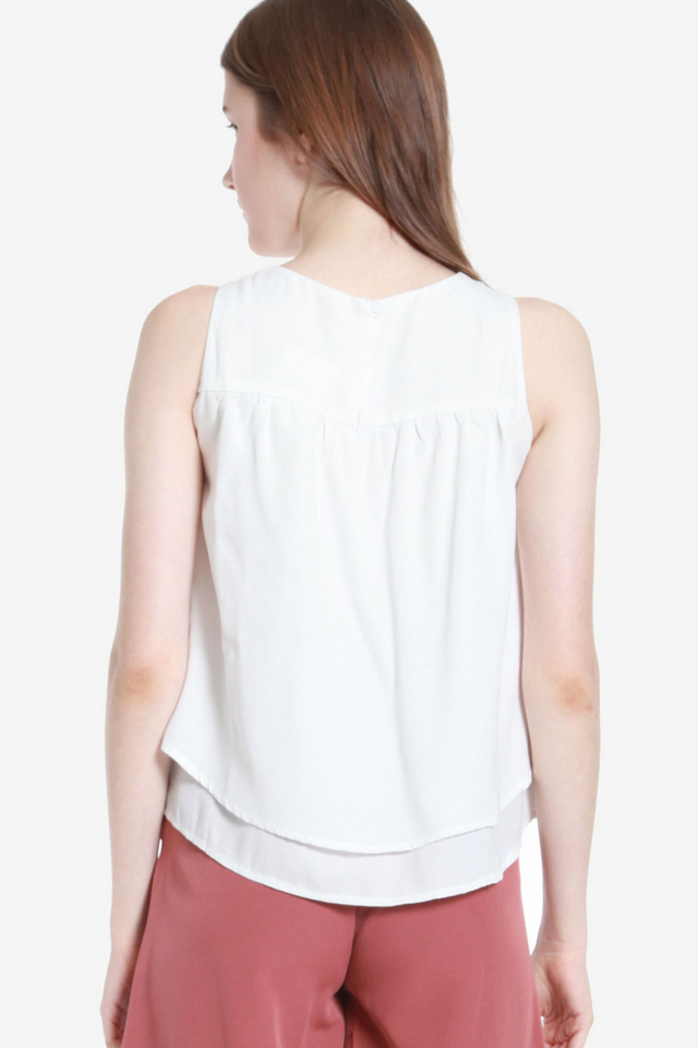 Ema Double Layer Top (White)