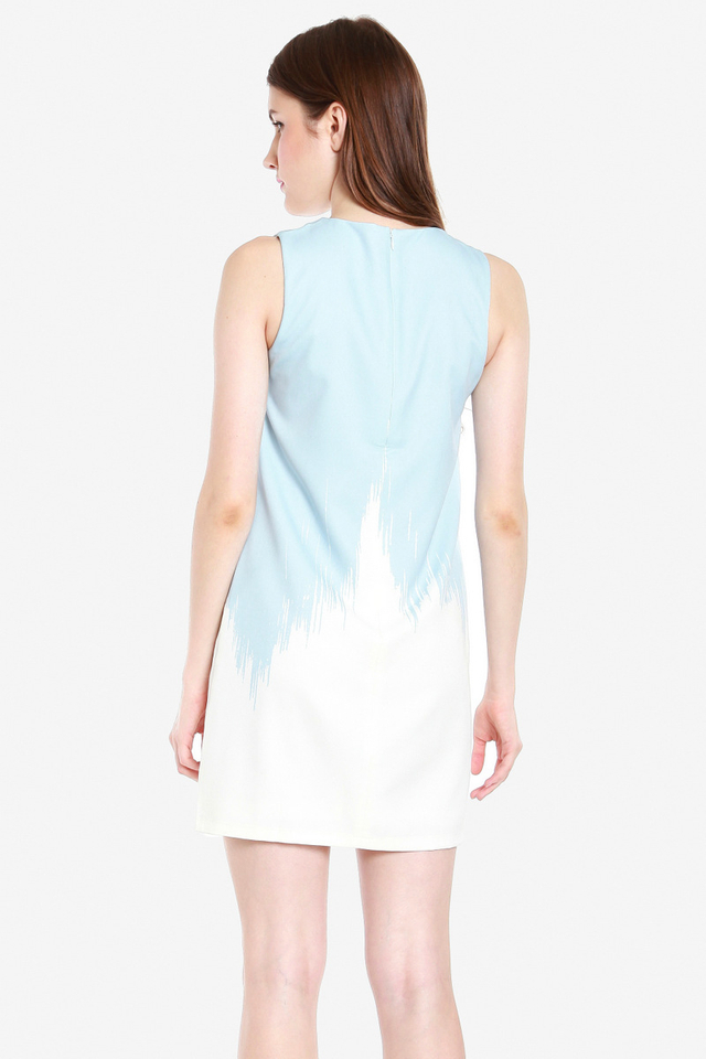 Bethel Ombre Shift Dress (Blue)