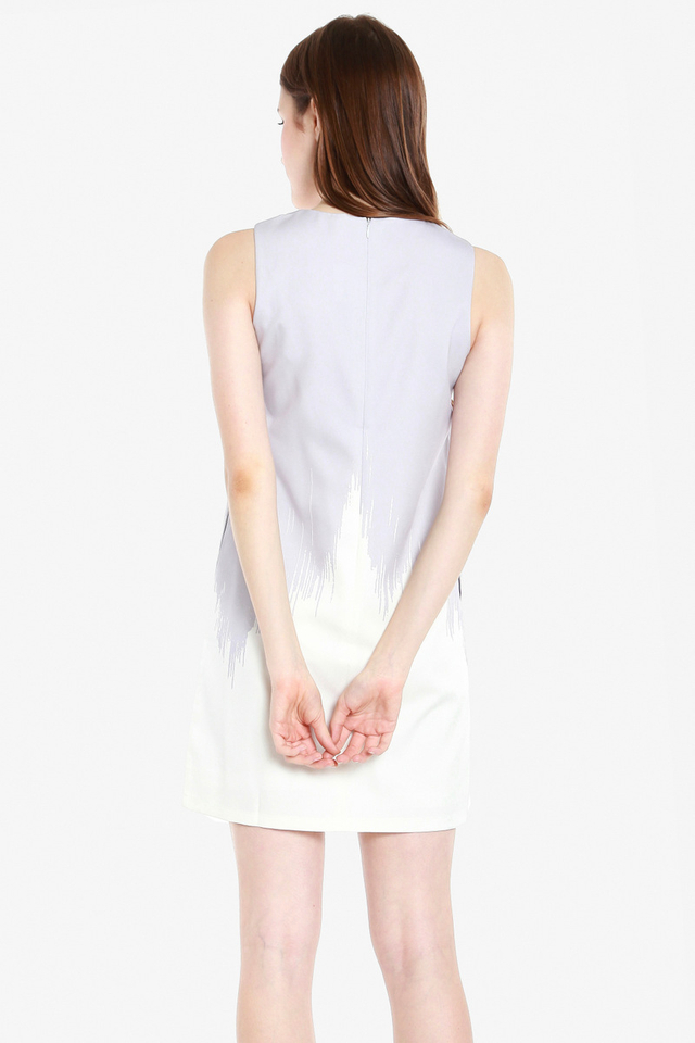 Bethel Ombre Shift Dress (Grey)