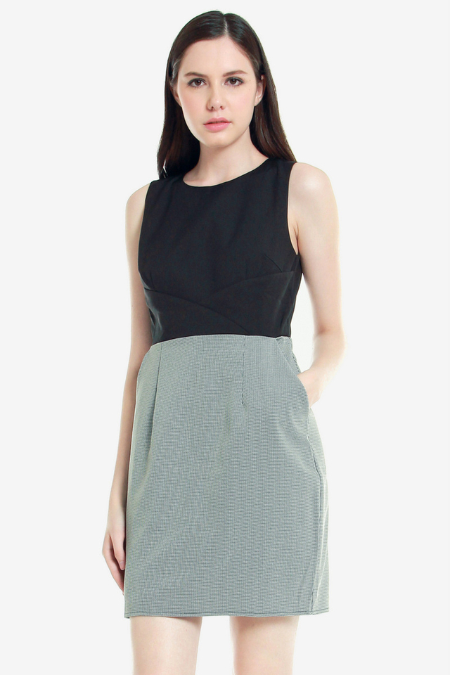 Erlinda Pocket Work Dress (Black)