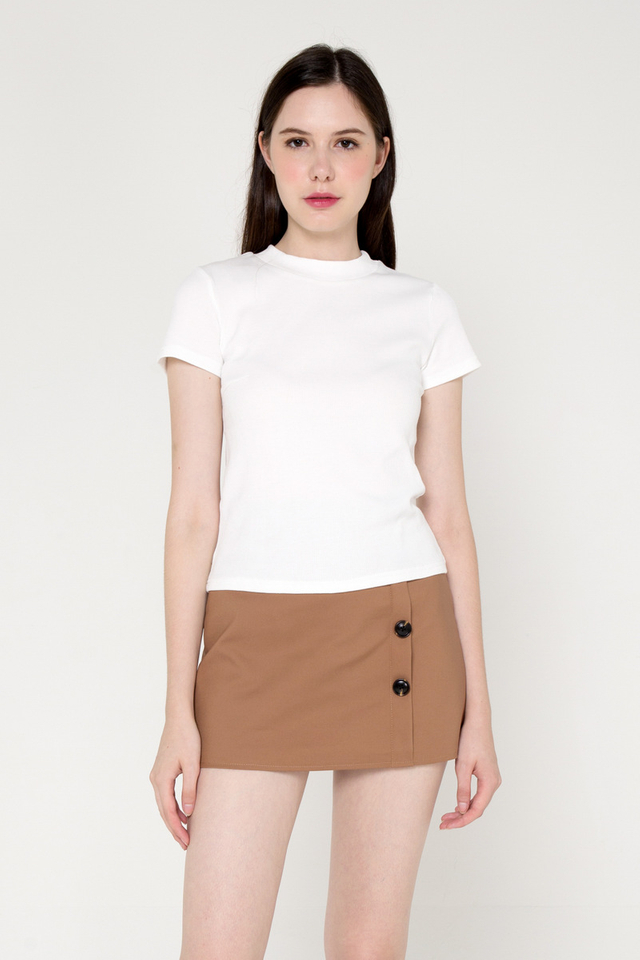 *Restocked* Belinda Basic Top (White)