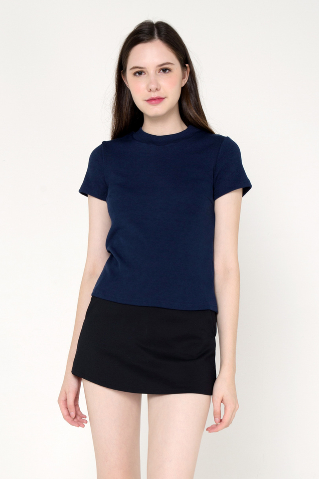 Belinda Basic Top (Navy Blue)