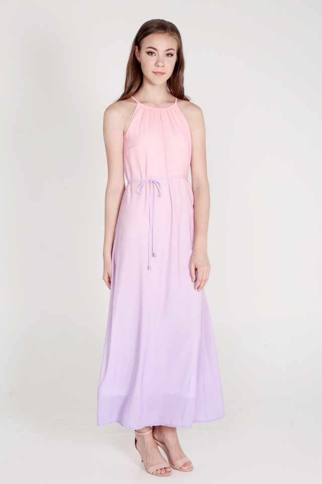 Sharell Ombre Maxi Dress (Pink/Lilac)