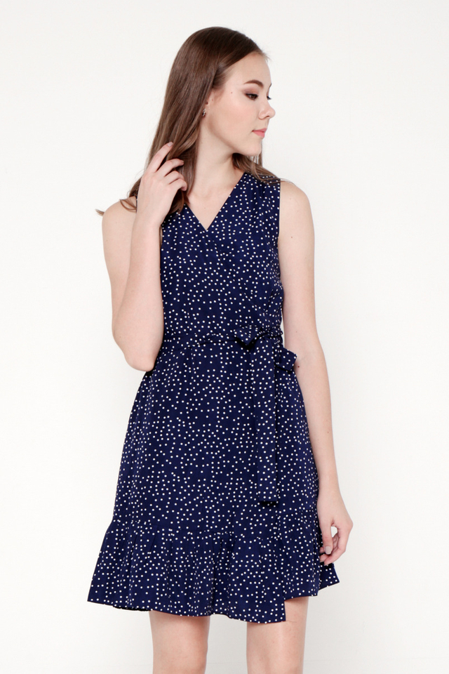 Messina Polka Dot Wrap Dress