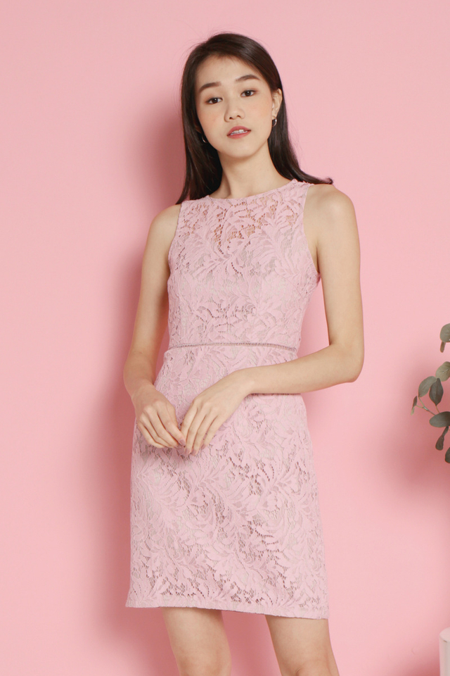 Ammie Lace Dress (Pink)
