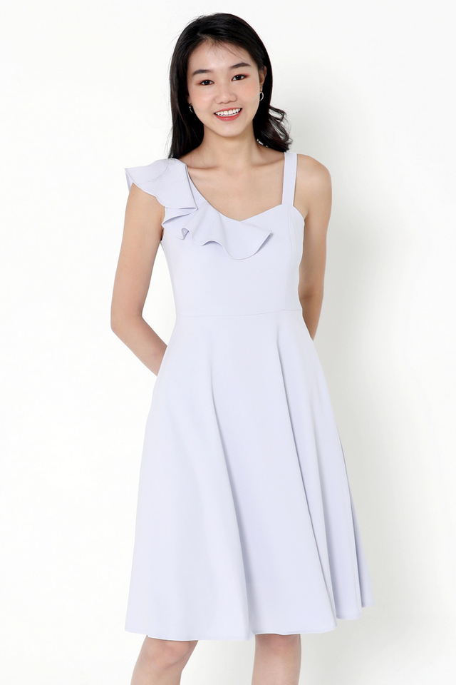 Cohen Frills Midi Dress (Blue)