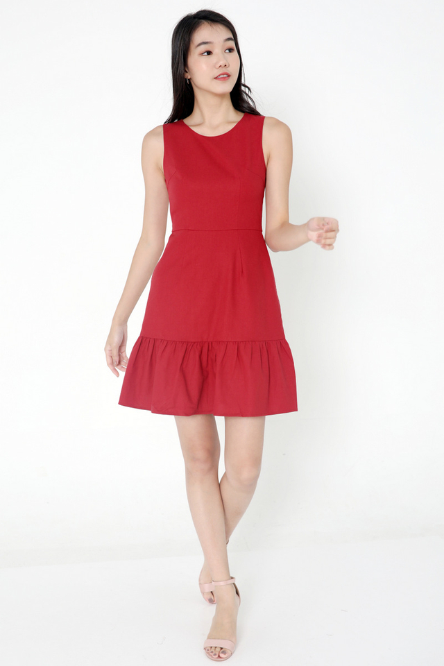 Mira Flutter Hem Dress