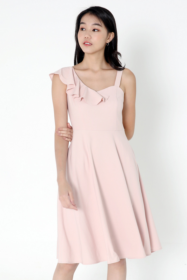 Cohen Frills Midi Dress (Pink)