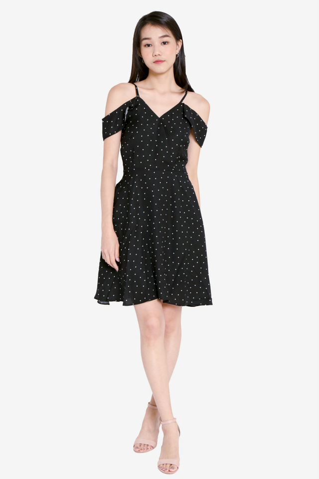 Madsen Polka Dot Dress (Black)