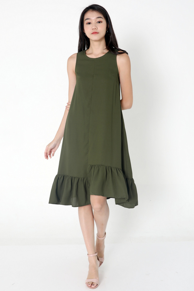 Bettye Ladder Midi Dress (Green)