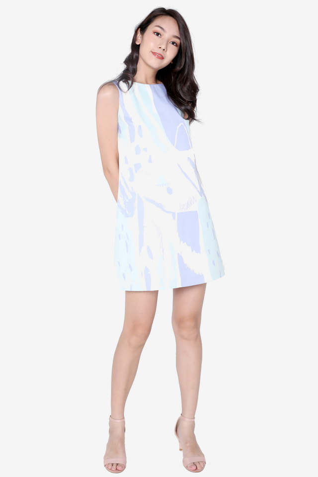 Charity Abstract Shift Dress