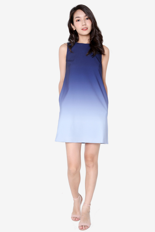 Carletta Ombre Dress (Navy Blue)