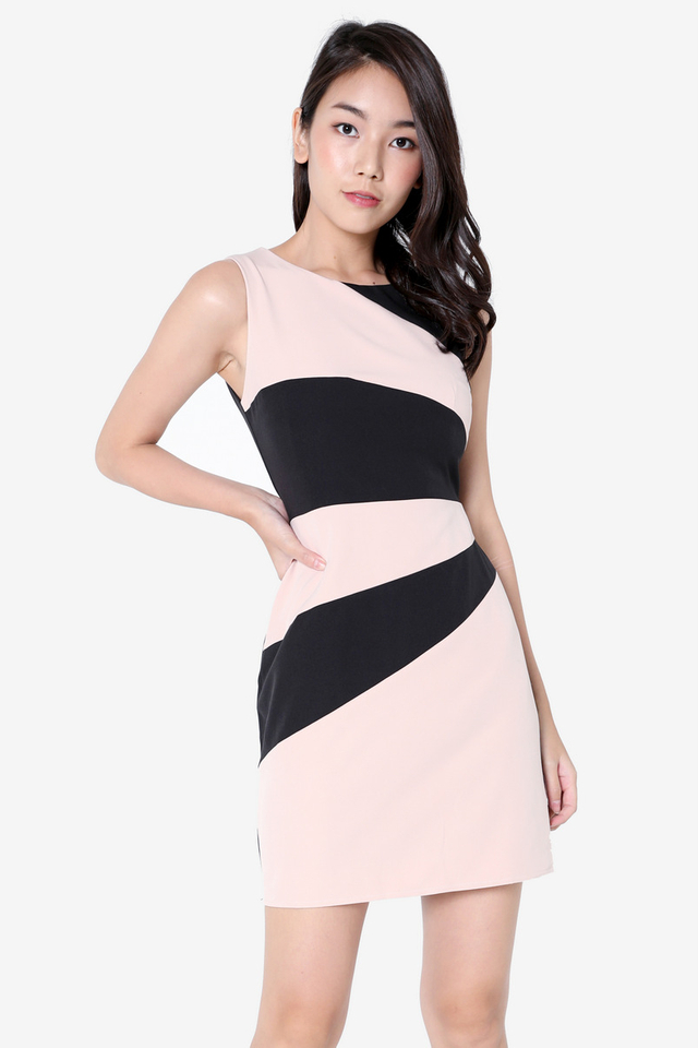 Jaynes Colourblock Work Dress (Pink)