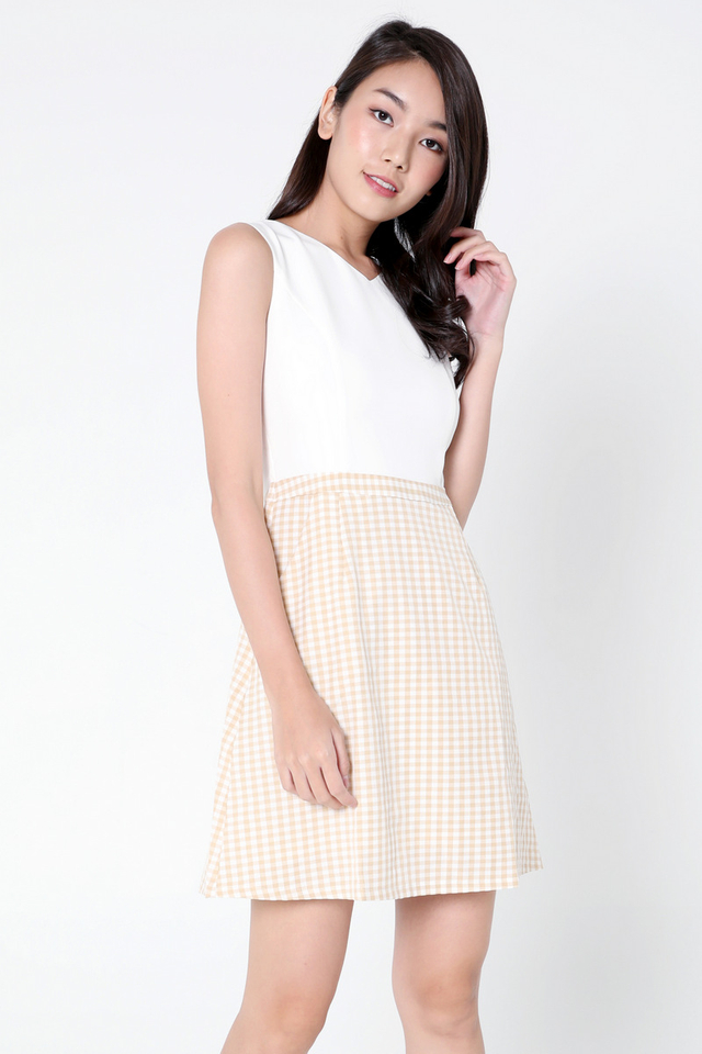 Brittni Pocket Dress (Yellow)