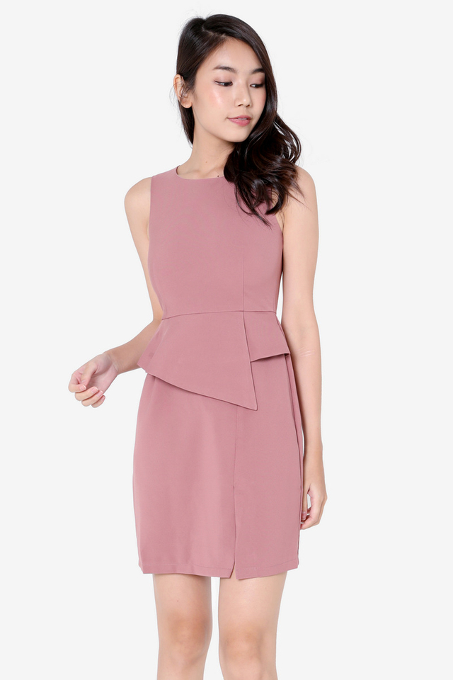 PO: Ruth Peplum Dress (Tea Rose)