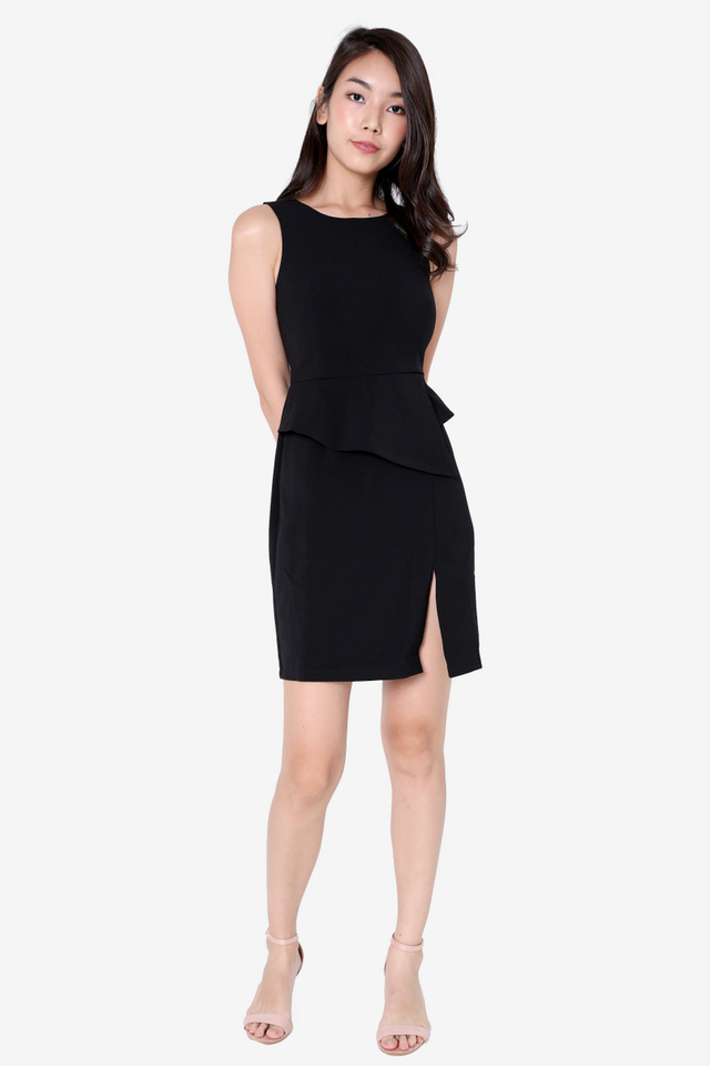 PO: Ruth Peplum Dress (Black)