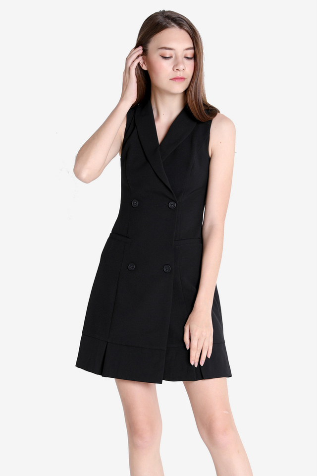 Haines Trench Dress (Black)