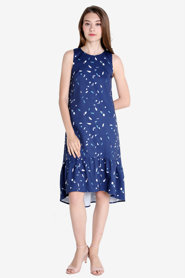Voss Abstract Hi-Low Dress