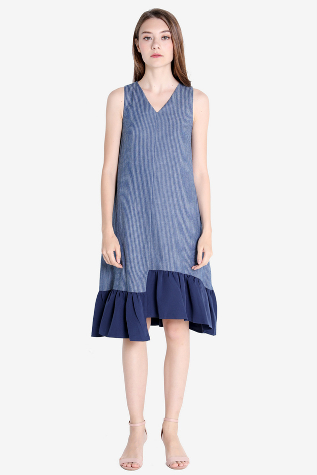 Millie Asymmetrical Midi Dress