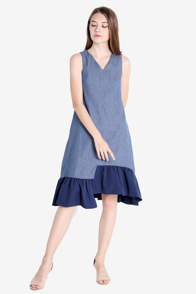 PO: Millie Asymmetrical Midi Dress