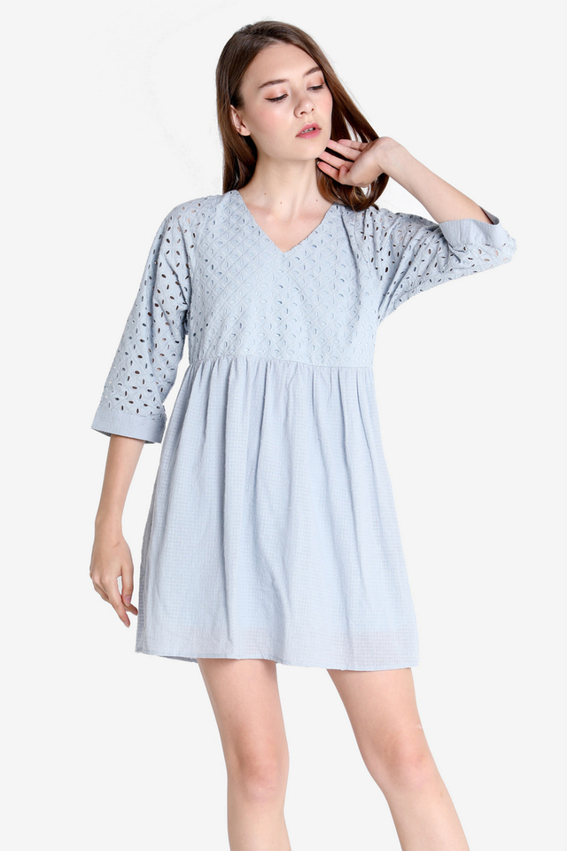 Kadie Babydoll Sleeved Dress