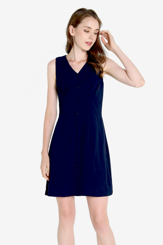Sheldon Work Dress (Navy Blue)