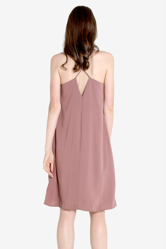 Zetta Midi Slip Dress (Pink)