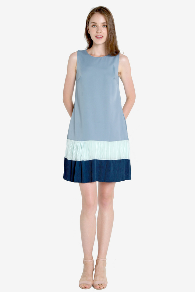 Rosena Micro Pleat Dress