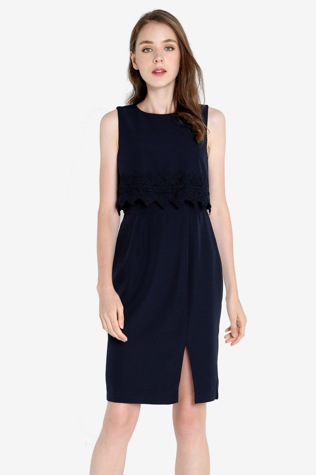 Kristeen Work Dress (Midnight Blue)