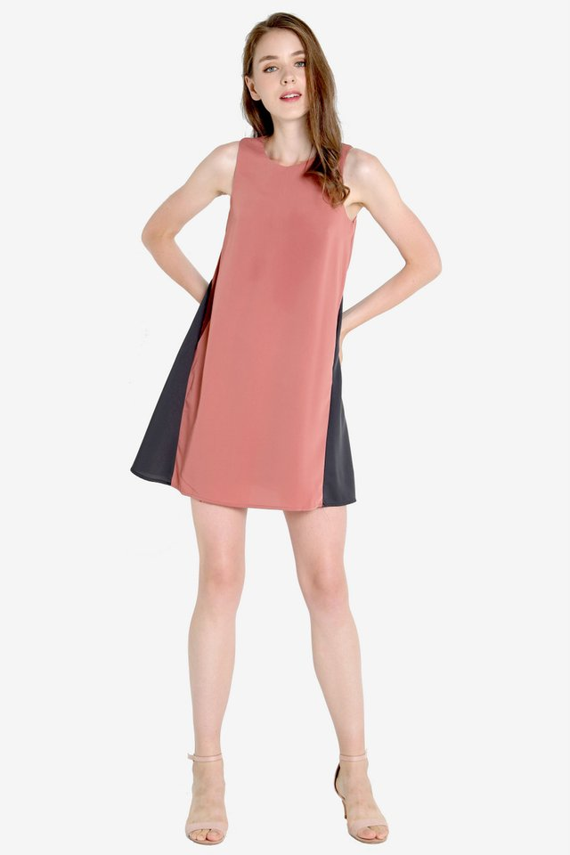 Trevino Slant Pocket Dress (Rose)