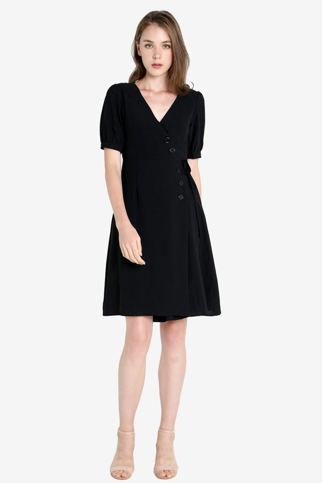 Carmen Button Sleeved Dress
