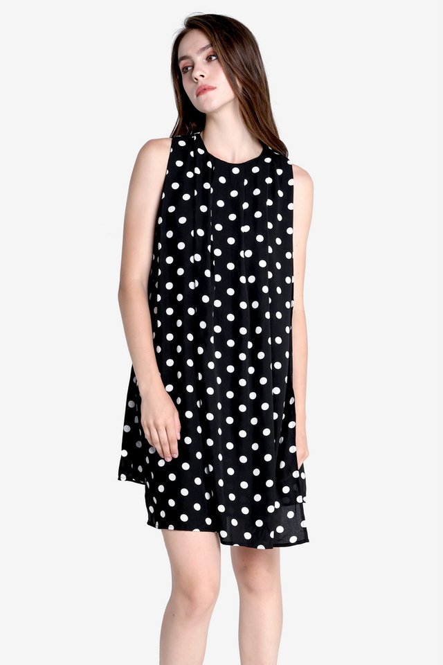 Walter Flap Sash Dress (Black)