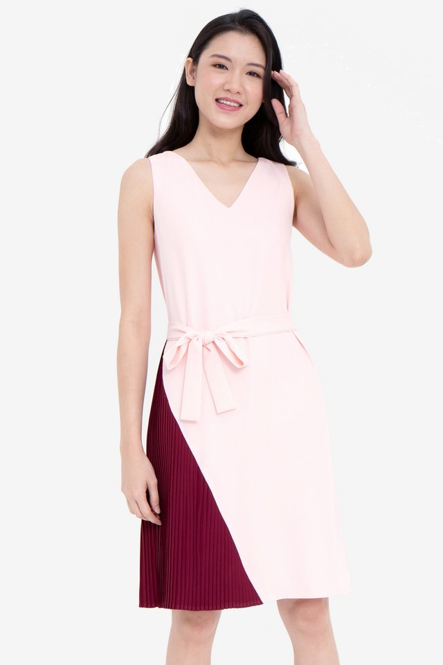 Gally Reversible Dress (Pink/Wine)