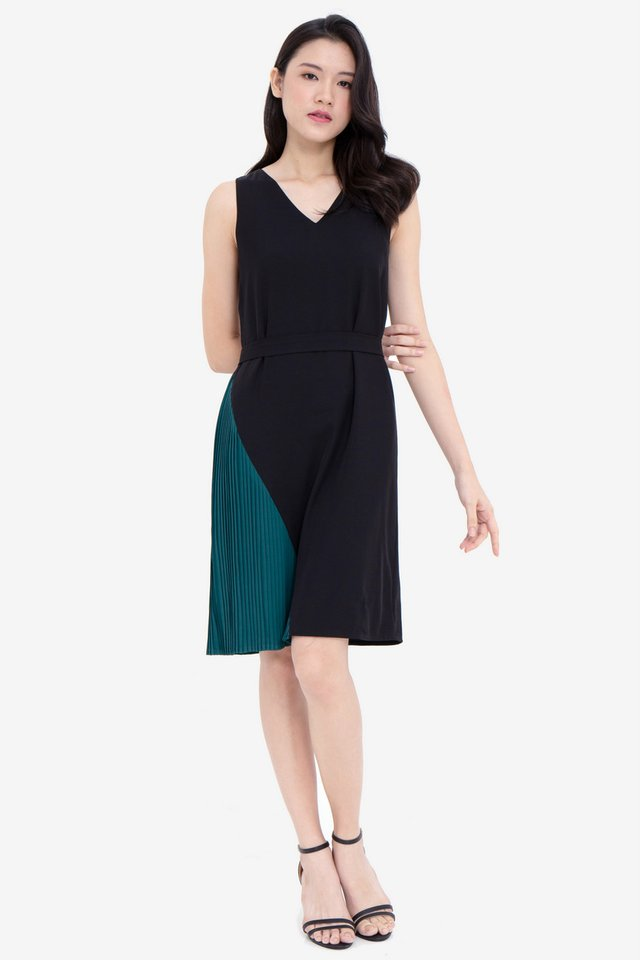 Gally Reversible Dress (Black/Green)