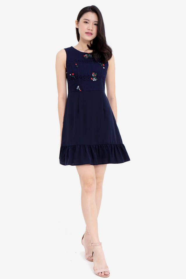 Sammie Embroidery Lace Skater Dress