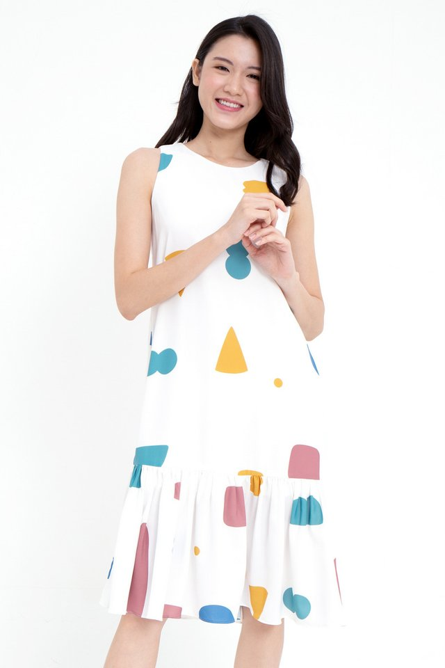 Meadow Mermaid Dress (White)