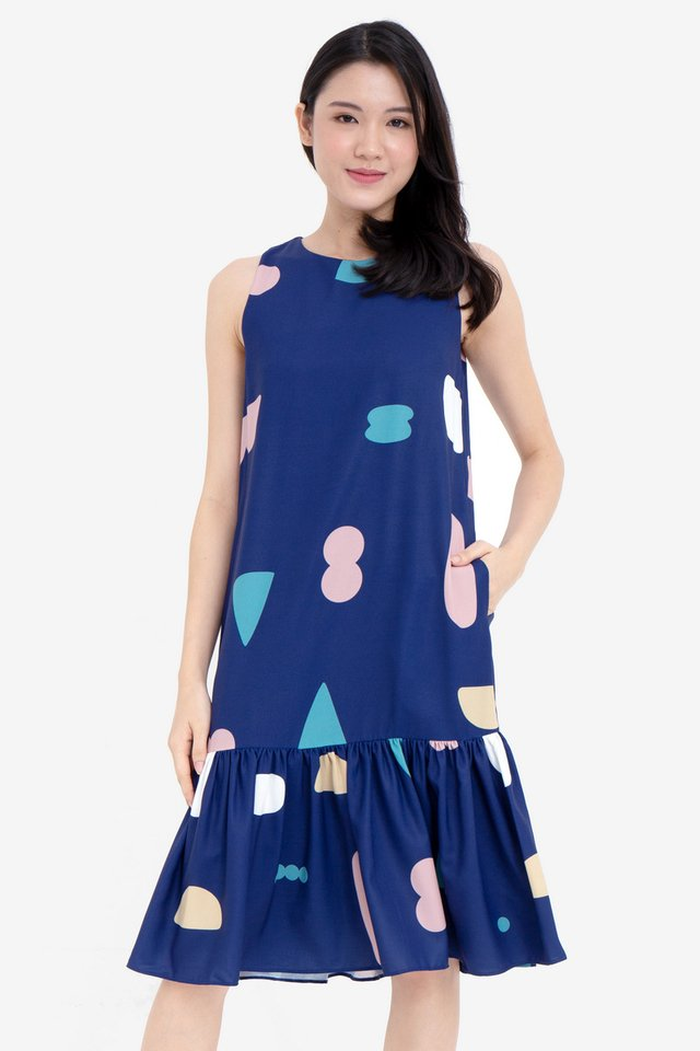 Meadow Mermaid Dress (Navy Blue)