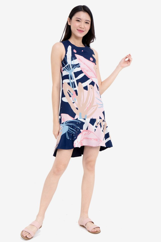 Maier Abstract Reversible Dress (Navy Blue)