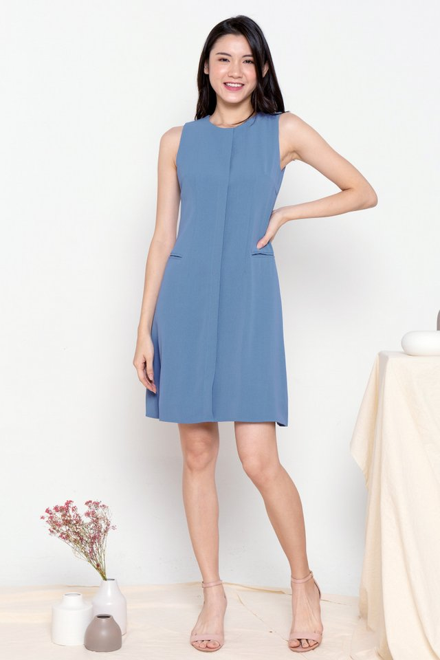 Aliston Work Dress (Blue)