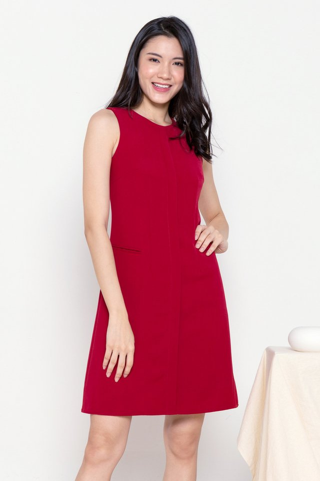 Aliston Work Dress (Magenta)