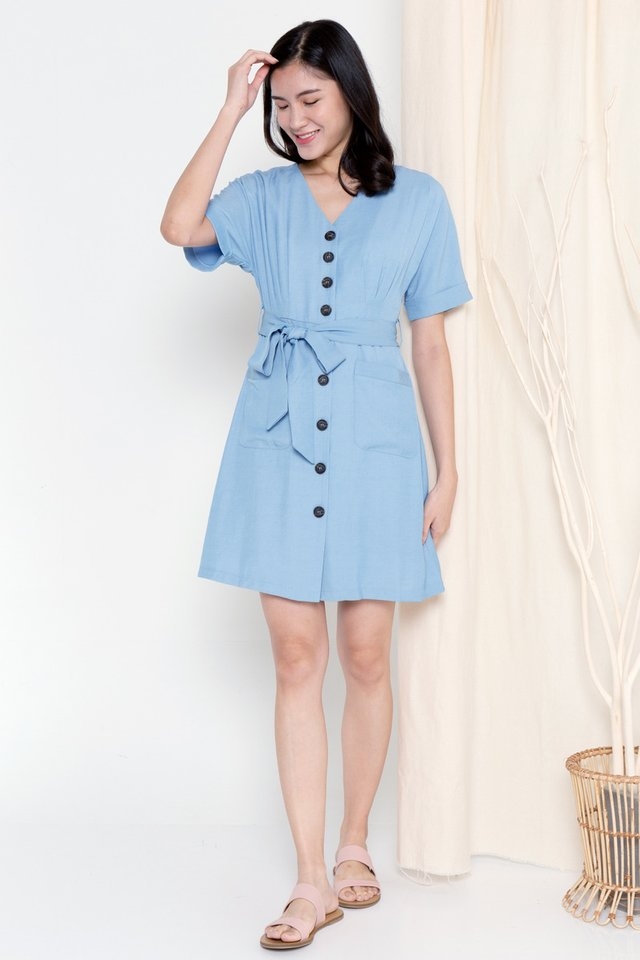 Clarette Batwing Dress (Blue)