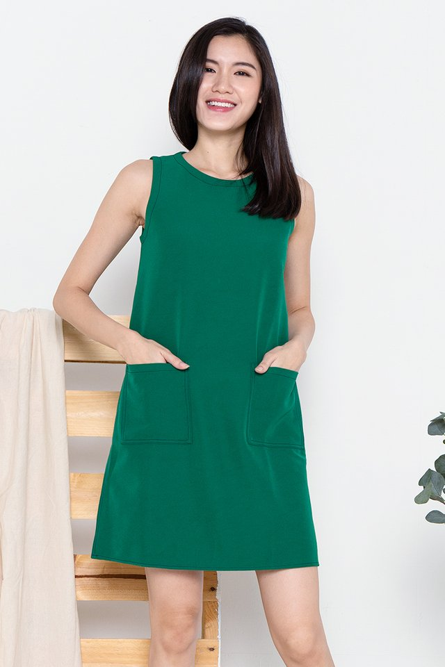 Sandra Stitch Sheath Dress (Green)