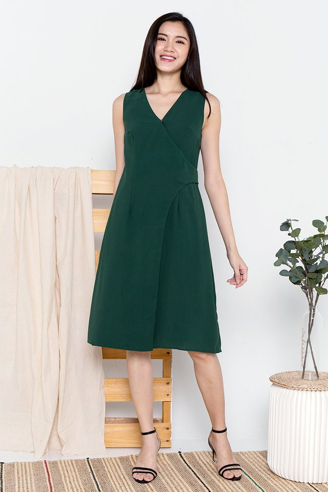 Keagan Work Dress (Forest Green)