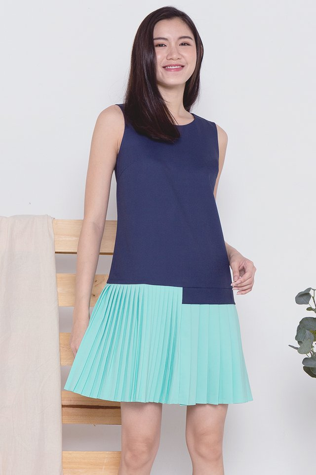 Deanna Pleated Hem Dress