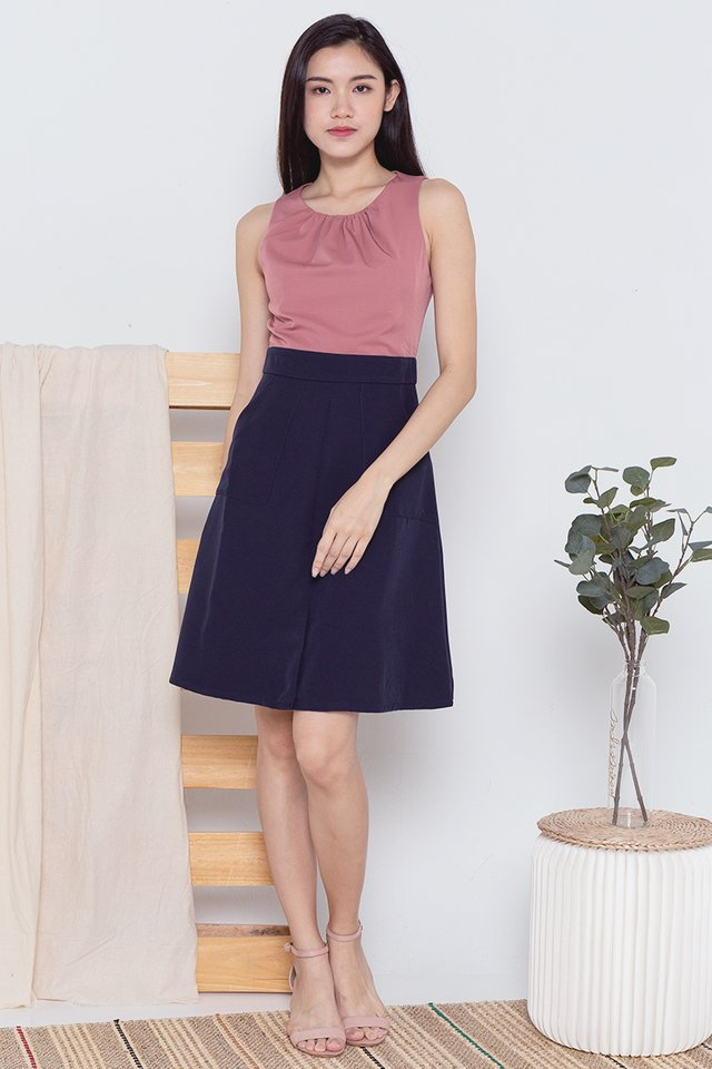 Abril Colourblock Utility Pocket Dress