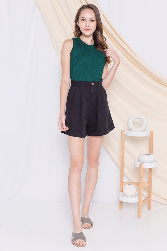 Basic Knit Top (Forest Green)