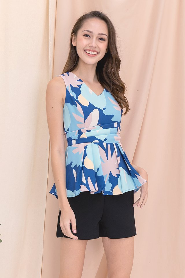 Harley Peplum Top (Blue)