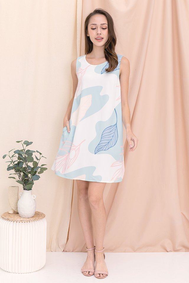 Botanics Abstract Reversible Dress (Pink)